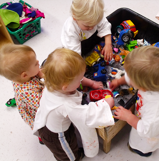 Toddlers at the Sensory Table